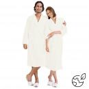 cotton badjas ecru, L/XL