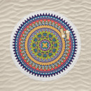wholesale Bath & Towelling: bt beach towel round hawai, Diameter 150