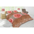 duvet cover bloomings taupe, 140X200