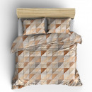duvet cover for mozaik taupe, 160x200