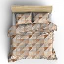 dekbedovertrek fur mozaik taupe, 160x200