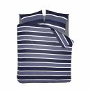 duvet cover classic stripe blue flannel , 260x20