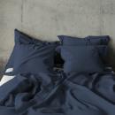 duvet cover pierre cardin washed linen navy, 1