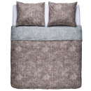 duvet cover washcotton taupe - gray, 240x200 /