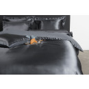 duvet coversatin solid anthracite, 240x200 / 220