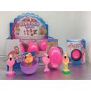 Großhandel Spielwaren: Magische Jumbo Eier Flamingo - im Display