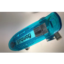 Mini Skateboard transparent blau mit LED Licht und