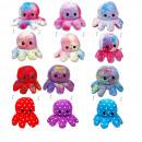 wholesale Dolls &Plush: Octopus - GLITTER - reversible plush - 20cm - in V