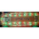 Mini monopatín verde transparente con luz LED y