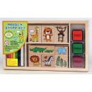 Großhandel Holzspielzeug:Holzstempelset