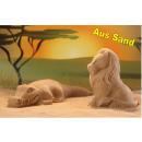 3D sand molds 2pcs set Lion crocodile - in color c