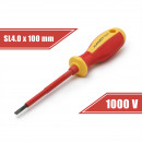 Screwdriver 0,8 x 4 x 100 mm 1000V