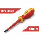 grossiste Outils a main: Tournevis PH2 x 6 x 100 mm 1000V