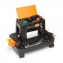 Rolling chair with mechanic tool holder, plastic