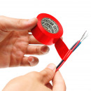 Isolatietape 19 mm · 10 m rood