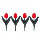 Blumenbeetzaun - rote Tulpe 4 St./Pack
