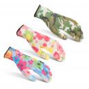 Werkhandschoenen met bloemmotief L