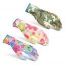 Werkhandschoenen met bloemmotief M