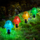 Solar Powered LED Mushroom Light 21 cm