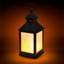 LED-lamp op batterijen met vlameffect zwart
