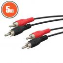 grossiste Informatique et Telecommunications: Câble RCA 2 x prise RCA - 2 x prise RCA 5,0 m