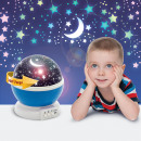 Mini-projector met LED-sterrenhemel - blauw