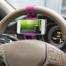 Steering Wheel Phone Holder pink