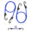 wholesale Ironmongery: Professional bungee cord set - blue - 45 cm x 8 mm