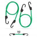 Professionelles Bungee-Cord-Set - grün - 90 cm x 8