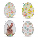Easter tray - metal, egg shaped - 24 cm - 4 types