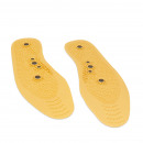 Magnetic insole with acupressure massaging functio