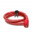 Bicycle Padlock 18 mm / 100 cm red