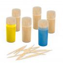 Toothpick set with storage bin 6 x 100 pcs