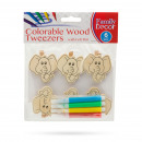 Colorable wood decor clips with felt pen - elephan