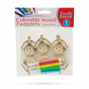 Colorable wood decor clips with felt pen - pirate