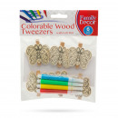 Colorable wood decor clips with felt pen - butterf