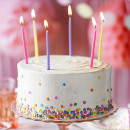 Rainbow cake kaars 12 kleuren - 10 stuks / verpakk