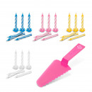 Cake shovel with candle set - 24 candles -