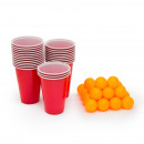 Beer pong set - 24 pcs ball and paper glass