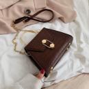 Handbag made of eco-leather brown T185BR