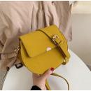 Handtas gemaakt van eco-leer, geel T186ZO