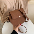 Brown leather handbag T186BR