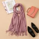 Fringed shawl, dark pink scarf SZA40CR