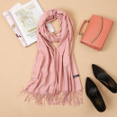 wholesale Scarves & Shawls: Shawl with tassels, pink scarf SZA40R