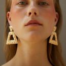 Dangling earrings Gothic gold K1162