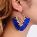 Traingle tassel earrings K1259N