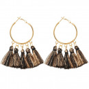 Earrings hanging tassels of the circle K1231CZ