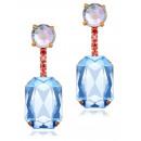 K1212 crystal hanging earrings