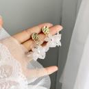 Hanging pearl earrings delicate K1195 clasp