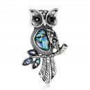 BZ18 jet owl brooch